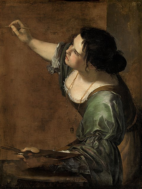 479px-Self-portrait_as_the_Allegory_of_Painting_(La_Pittura)_-_Artemisia_Gentileschi